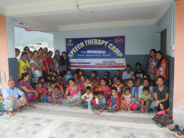 Group Photos During Butwal Speech Therapy Camp