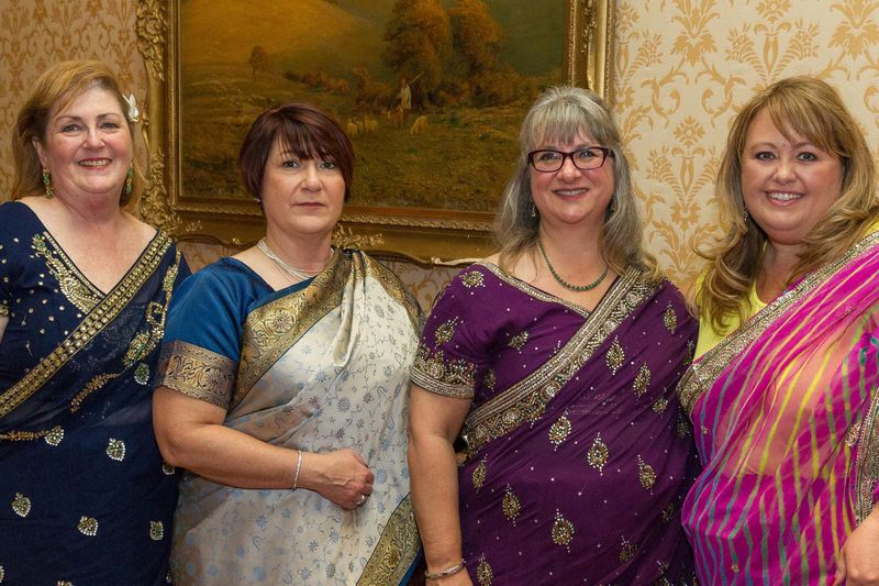 Ladies in saris