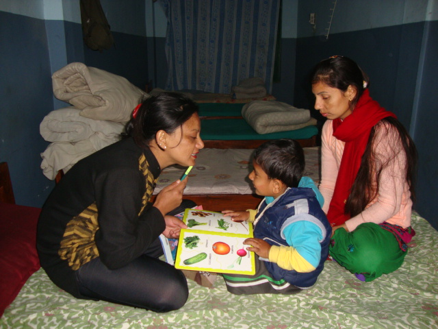 Nilam ( Speech Assistant)  during speech therapy session