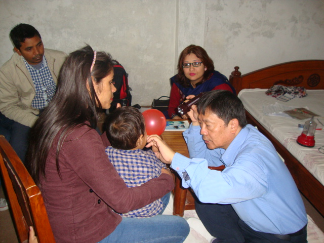 Dr Shankar Man Rai During Surgical Screening at Speech Therapy Camp