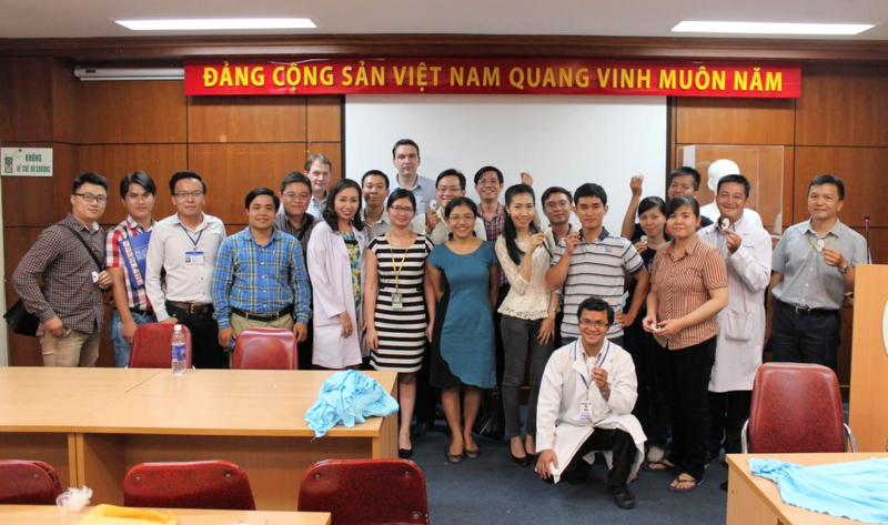 Trainees group photo with ear carvings